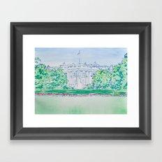 White House Print Framed Art Print