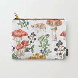 Woodland Mushrooms & Hedgehogs Carry-All Pouch