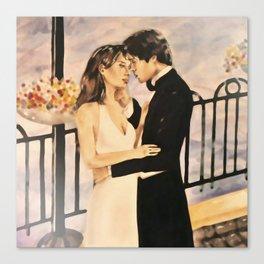 Classy couple in love Canvas Print