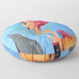 Bustle Mermaid Floor Pillow