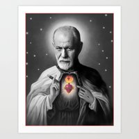 freud Art Prints featuring Freud by Michelle Wenz