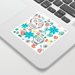 Summer sugar skulls Sticker