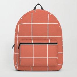 Minimal Grid in Salmon Backpack
