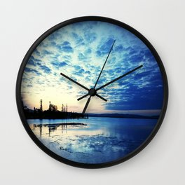 Blue Sunset Wall Clock