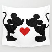mickey Wall Tapestries featuring MICKEY MOUSE by UDIN
