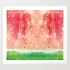 Watermelon drops Art Print