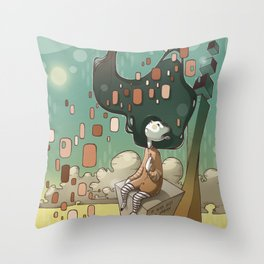It Was Just a Dream Throw Pillow