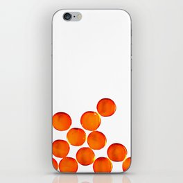 Crystal Balls Orange iPhone Skin