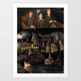 Welcome to Hogwarts Art Print