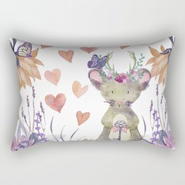 Lufkin Mouse Holds The Key - Bagaceous Rectangular Pillow