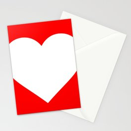 Heart (White & Red) Stationery Cards