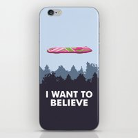 i want to believe iPhone & iPod Skins featuring I Want to Believe by The Cracked Dispensary