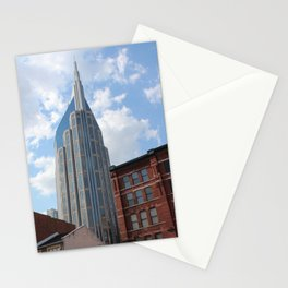 Downtown Nashville Old and New Photograph Stationery Cards