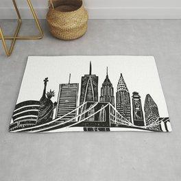 Linocut New York Rug
