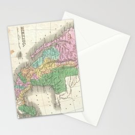 Vintage Map of Mexico (1827) Stationery Cards