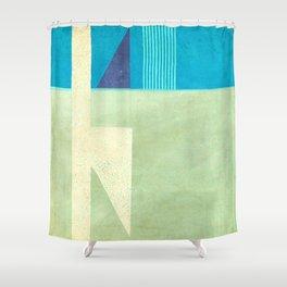 Solitaire du Figaro (blue) Shower Curtain