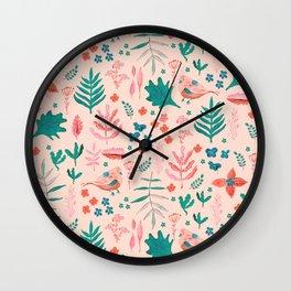 Pink Nature Wall Clock