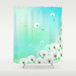 Dandelion Fluffs Shower Curtain