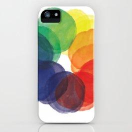 Watercolor Wheel iPhone Case