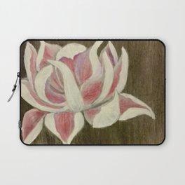 White and Pink Lotus Laptop Sleeve