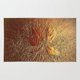 Rust glitter leaves in fall Rug