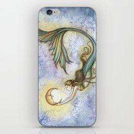 Deep Sea Moon Fantasy Mermaid Art Illustration by Molly Harrison iPhone Skin