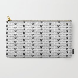 T-Rex Pattern (Black & White) Carry-All Pouch
