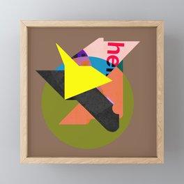 Helvetica Framed Mini Art Print