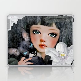 Sphynx Among Orchids Laptop & iPad Skin