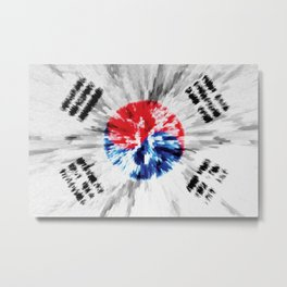 Extruded flag of South Korea Metal Print