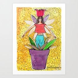 Flowergirl3 Art Print