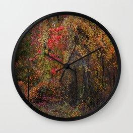 Evocative Autumn Wall Clock