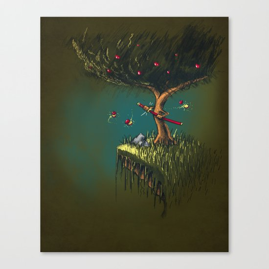 Apple Ninja Canvas Print