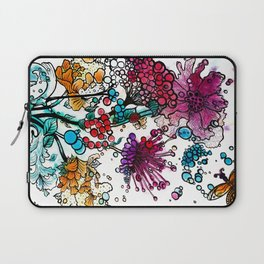 Floral watercolor abstraction Laptop Sleeve