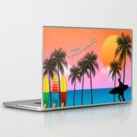 florida Laptop & iPad Skins featuring Florida  by mark ashkenazi