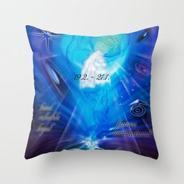 Zodiac sign Aquarius  Happy Birthday 4 Throw Pillow
