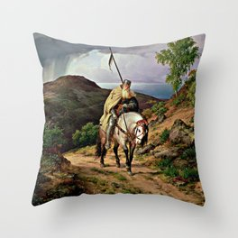 The Return of the Crusader Throw Pillow