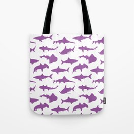 Violet Sharks Tote Bag