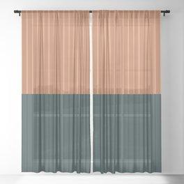 Color Block Lines XIX Sheer Curtain
