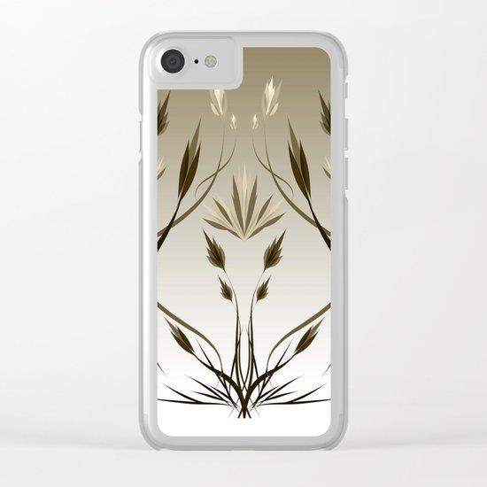floral emblem 1 Clear iPhone Case