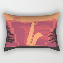 Music Mountains No. 2 Rectangular Pillow
