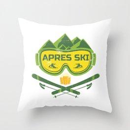 Apres Ski Huts Outfit Throw Pillow