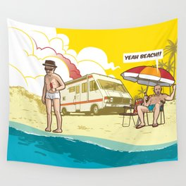 Yeah beach! 2.0 Wall Tapestry