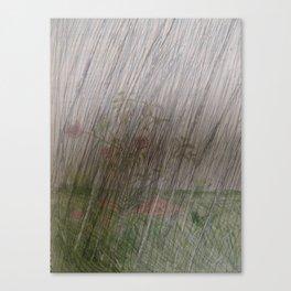 Flower In The Rain (Dark) Canvas Print