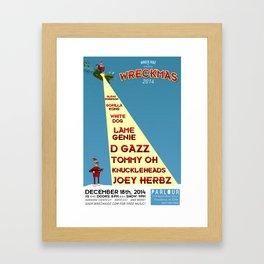 Wreckmas 2014 Poster Framed Art Print