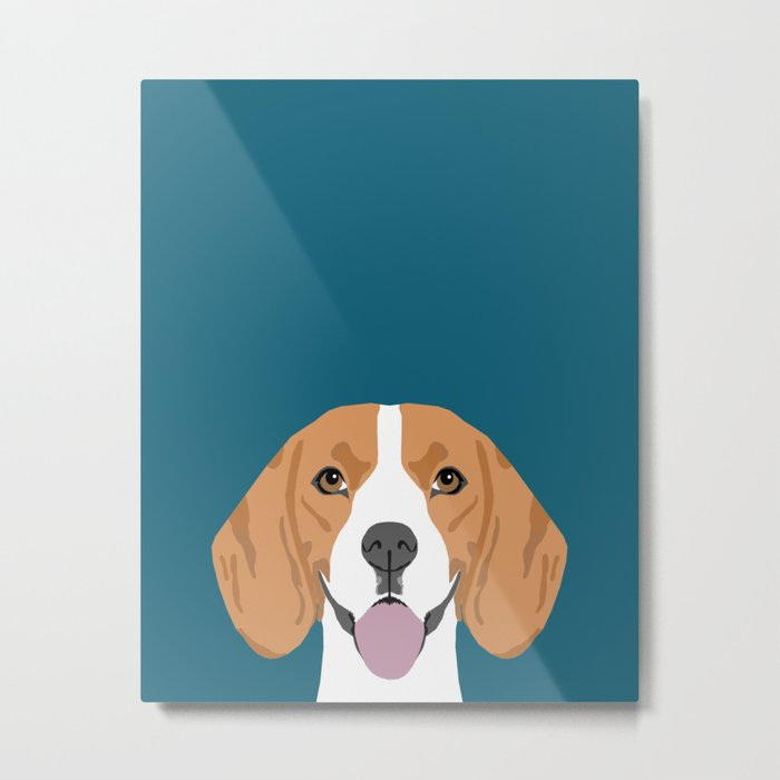 Lenon - Beagle gifts for pet owners and dog person with a beagle Metal Print