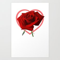 Roseheart Art Print