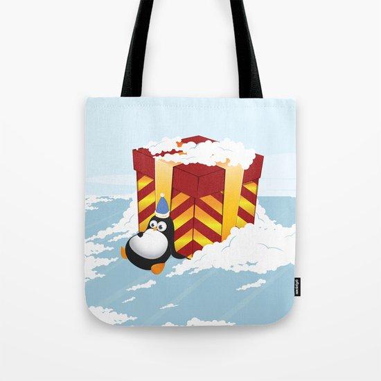 Greedy penguin Tote Bag