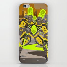 radioactive giant toxicrobot in power plant iPhone Skin