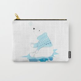 Polar bear with snowflakes Carry-All Pouch